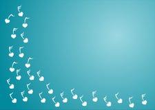 Esquina del azul de la música del corazón Fotos de archivo libres de regalías