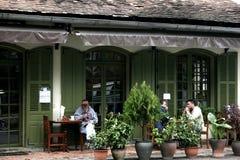 Esquina del café de Loas Imagen de archivo
