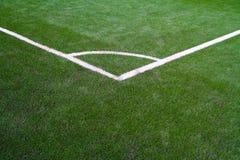 Esquina del campo de fútbol Fotos de archivo