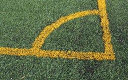 Esquina del campo de fútbol Imagen de archivo