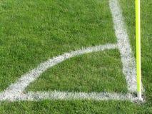 Esquina del campo de fútbol Imágenes de archivo libres de regalías