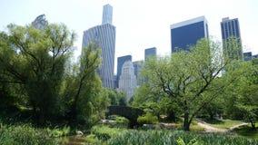 Esquina del Central Park Imágenes de archivo libres de regalías