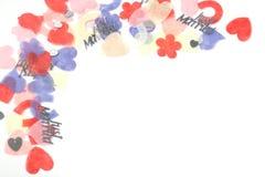 Esquina del confeti Fotografía de archivo