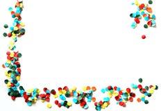 Esquina del confeti Fotos de archivo