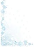 Esquina del copo de nieve Foto de archivo libre de regalías