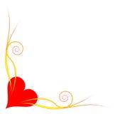 Esquina del corazón imagen de archivo libre de regalías