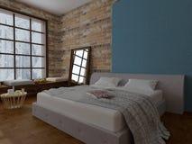 Esquina del dormitorio del invierno Fotografía de archivo libre de regalías