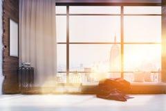 Esquina del dormitorio en Nueva York ilustración del vector