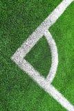 Esquina del fútbol y de x28; soccer& x29; campo Imágenes de archivo libres de regalías