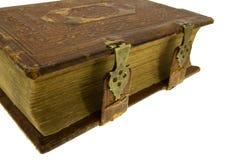 Esquina del libro viejo con el bloqueo Fotografía de archivo libre de regalías
