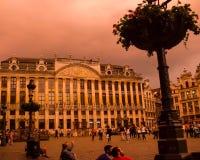 Esquina del oeste de Grand Place, Bruselas, Bélgica Imagen de archivo