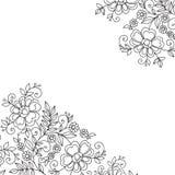 Esquina del ornamento del vector de la flor Fotografía de archivo libre de regalías