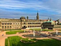 Esquina del palacio de Zwinger Foto de archivo