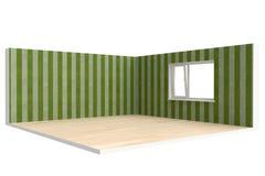 Esquina del sitio vacío con el piso, la pared y la ventana Fotografía de archivo