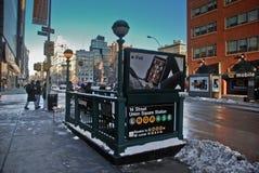 Esquina del subterráneo de New York City Fotos de archivo libres de regalías