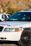 Esquina delantera del coche policía Fotos de archivo libres de regalías