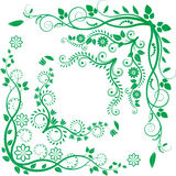 Esquina floral Imagen de archivo libre de regalías
