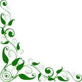 Esquina floral Imagenes de archivo