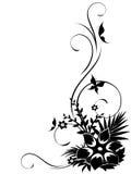 Esquina floral abstracta con remolinos Imágenes de archivo libres de regalías