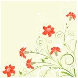 Esquina floral con las flores stock de ilustración