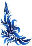 Esquina floral decorativa del vector en tonos azules libre illustration