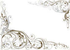 Esquina floral del remolino libre illustration