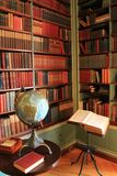 Esquina hermosa del escondrijo de la biblioteca, George Eastman House, Rochester, Nueva York, 2017 Foto de archivo libre de regalías