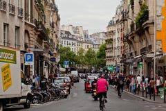 Esquina típica de París Francia Foto de archivo libre de regalías