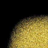 Esquina texturizada brillo del oro Fotos de archivo