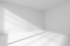 Esquina vacía del sitio blanco con luz del sol stock de ilustración