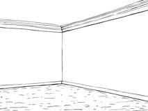 Esquina vacía del sitio con la alfombra stock de ilustración