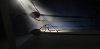 Esquina y taburete del boxeo del vintage Imagenes de archivo