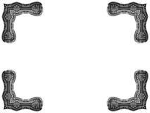 Esquinas antiguas del cuadro Imagen de archivo libre de regalías