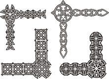 Esquinas decorativas célticas del nudo Imagen de archivo libre de regalías