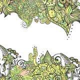 Esquinas decorativas del elemento Tarjeta abstracta de la invitación Plantilla w stock de ilustración