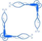 Esquinas espirales azules Imagen de archivo libre de regalías