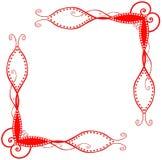 Esquinas espirales rojas Imagen de archivo libre de regalías