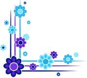 Esquinas florales stock de ilustración