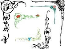Esquinas florales Imagen de archivo libre de regalías