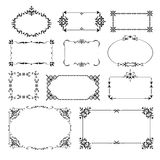 Esquinas ornamentales del diseño fijadas Imágenes de archivo libres de regalías