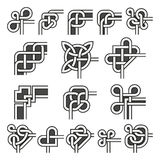 Esquinas ornamentales del marco en sistema de estilo celta de la decoración del ángulo del vector stock de ilustración