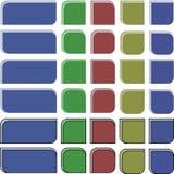 Esquinas redondas coloreadas Fotos de archivo