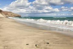 Esquinzo beach, Fuerteventura Stock Images
