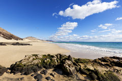 Esquinzo beach, Fuerteventura Stock Photography