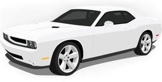 Esquive el coche del músculo del desafiador en blanco Fotos de archivo libres de regalías