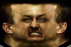 Esquizofrenia. Face do panorama foto de stock