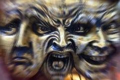 Esquizofrenia - locura - expresiones fotografía de archivo