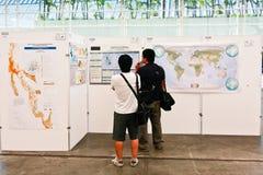 ESRI Benutzer-Konferenz-Karten-Galerie Stockbilder