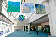 ESRI User Conference 2010. SAN DIEGO - JULY 12: ESRI (Environmental Systems Research Institute) user conference is the biggest GIS (Geographic Information royalty free stock image