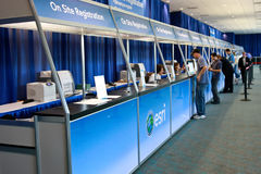 ESRI User Conference 2010 Registration Area. SAN DIEGO - JULY 12: ESRI (Environmental Systems Research Institute) user conference is the biggest GIS (Geographic stock photo